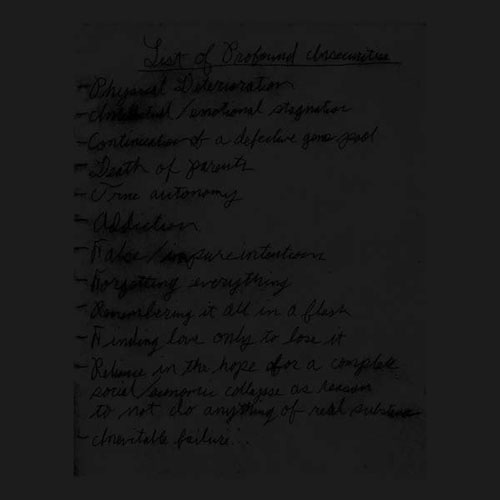 Drunkdriver & Mattin: List of Profound Insecurities LP